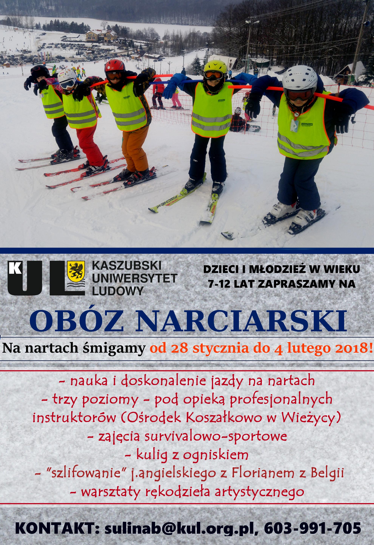 plakat obóz zimowy